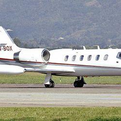 El avión Lear 35 de Mauricio Filiberti. | Foto:Cedoc.