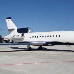 El avión Falcon 900 de Filiberti.  | Foto:Cedoc.