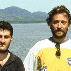 José Luis Cabezas y el autor en Managua (1995).