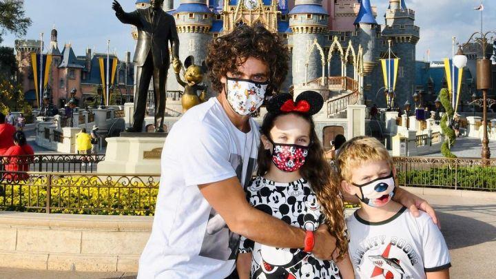 Mariano Martínez le cumplió el sueño a sus hijos y los llevó a Disney