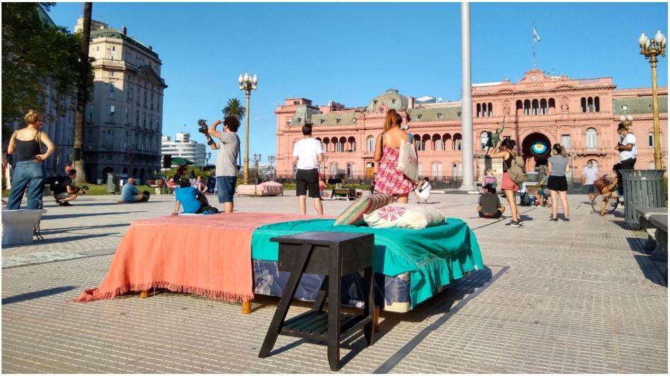 protesta inquilinos plaza de mayo 25012020