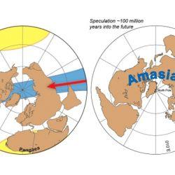 """La próxima gran masa terrestre, a la que bautizaron""""Amasia"""" estará conformado por megacontinenes."""