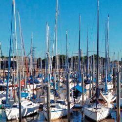 Puerto Norte y sus numerosas embarcaciones.