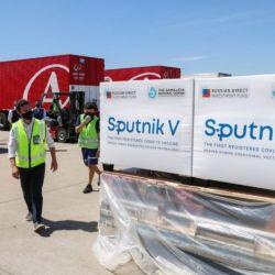Primer cargamento de vacunas Sputnik V
