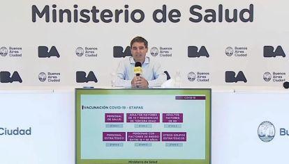 Reporte del ministerio de Salud de la Ciudad de Buenos Aires