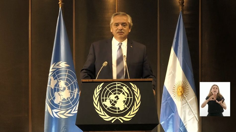 Alberto Fernández, durante su discurso ante la CEPAL.