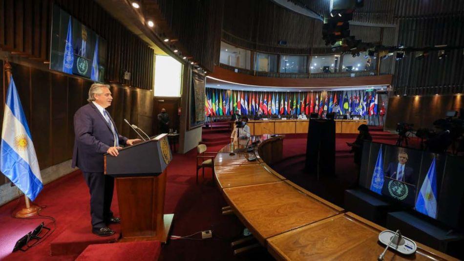Alberto Fernández y su discurso ante CEPAL-20210127
