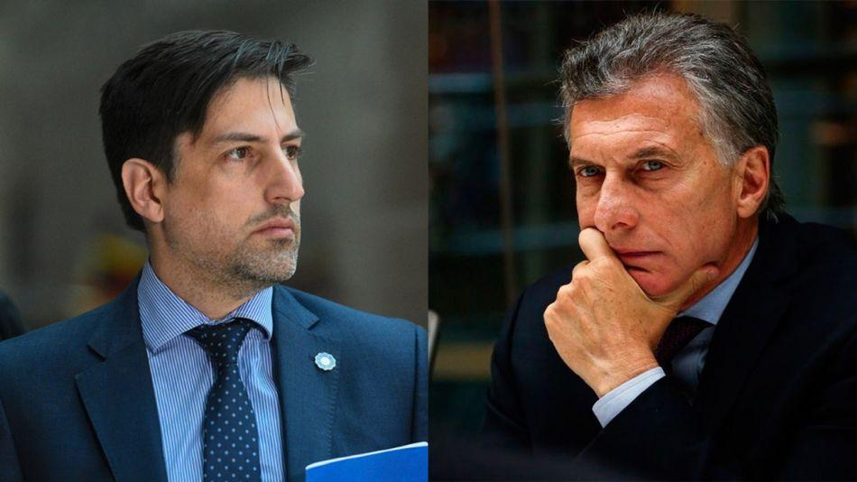 Nicolás Trotta y Mauricio Macri 20210127