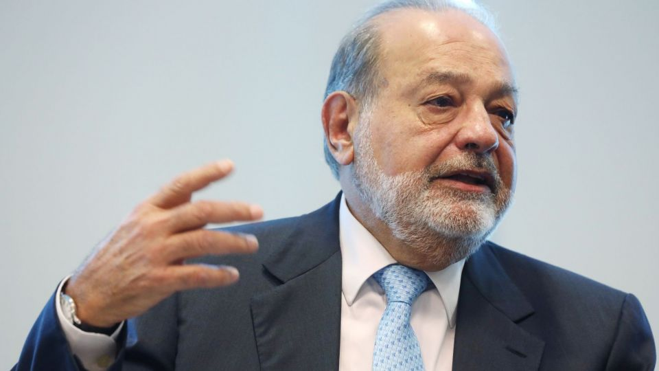 Billionaire Carlos Slim Holds News Conference