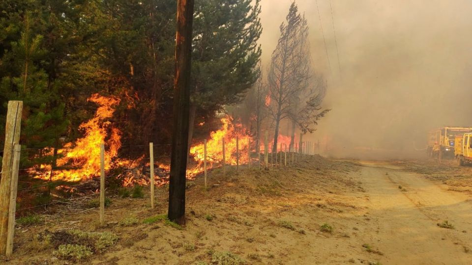 Los incendios en El Bolsón ya consumieron más de 10 mil hectáreas.