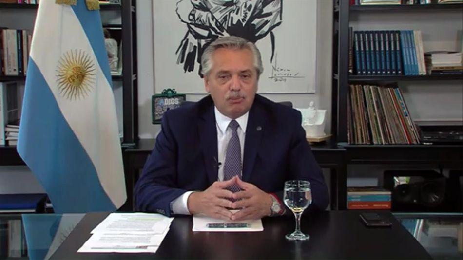 Alberto Fernández ante el foro de Davos 20210128