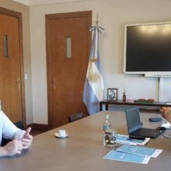 El ministro de Obras Públicas de la Nación, Gabriel Katopodis, con el intendente Guillermo Montenegro.