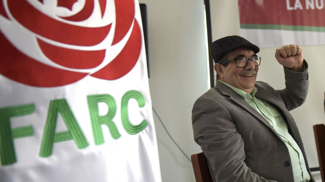 The former leader of the ex-rebel group Revolutionary Armed Forces of Colombia and now politic party FARC, Rodrigo