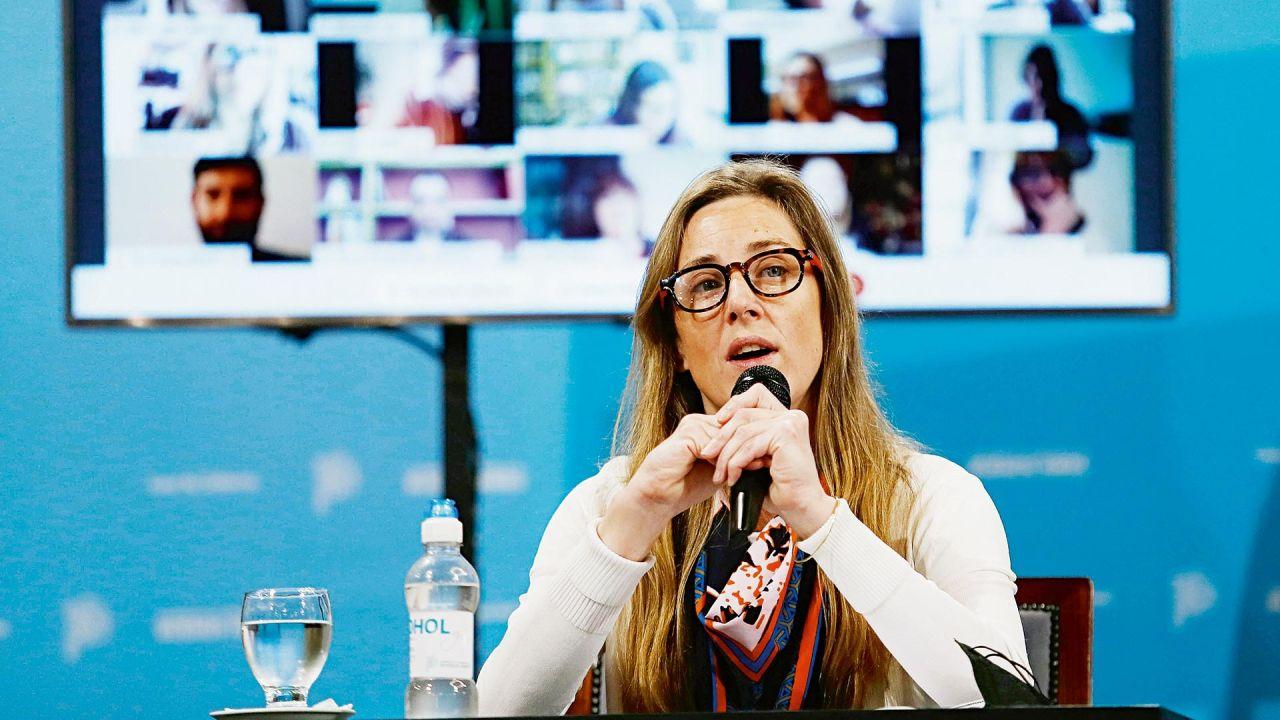 La postura de la directora general de Cultura y Educación de Buenos Aires, Agustina Vila   Foto:Cedoc.