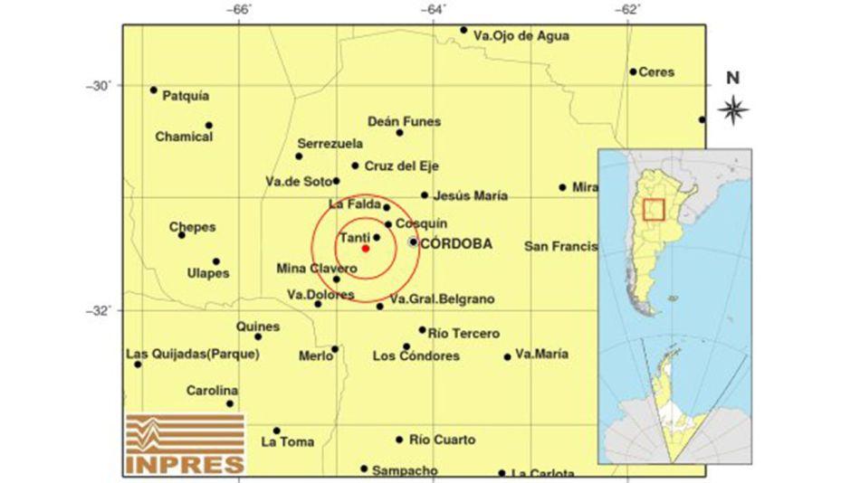 sismo en cordoba 20210129