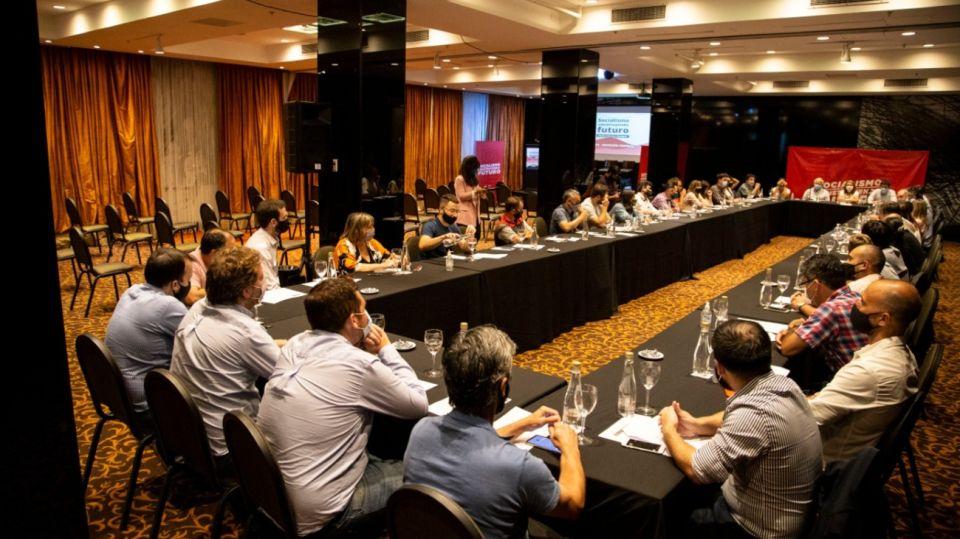 La cúpula del socialismo se reunió en el Hotel Savoy, en Buenos Aires.