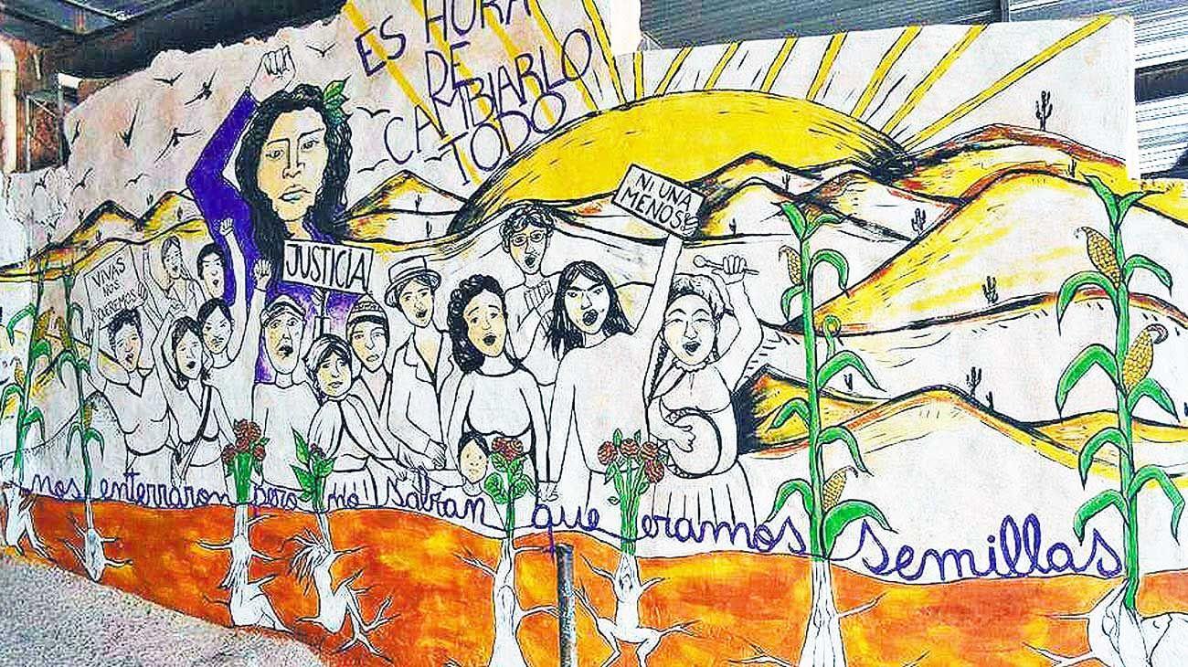 """Mural. Impactante nota sobre """"las tres muertes de Camila"""", en Jujuy."""