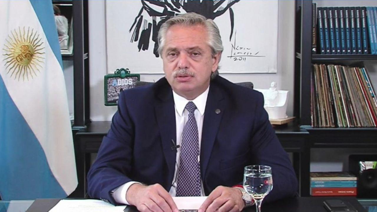Alberto Fernández en Davos