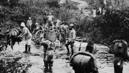 """EL CONGO EN 1920. """"De repente, tienes 1.600 soldados con rifles y munición en abundancia, por lo que el nivel de caza en esa área aumentó drásticamente durante estos pocos meses"""", dijo Pepin."""