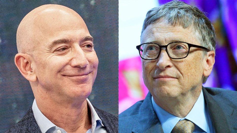 Más ricos. Jeff Bezos de Amazon y Bill Gates de Microsoft, entre otros.
