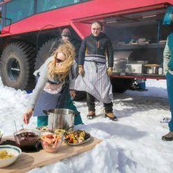 El Sleipnir se utiliza para realizar recorridos turísticos por el glaciar Langjokull.