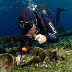 Los investigadores se encontraban excavando antiguos naufragios en las cercanías de la isla de Kasos.