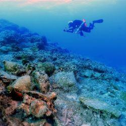 Los valiosos recipientes cerámicos romanos encontrados en uno de los barcos naufragados datan de entre los siglos ii y III d.C.