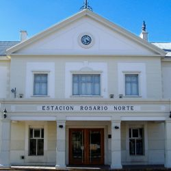 El tren que partió de Buenos Aires llegó a la estación Rosario Norte el 1 de febrero de 1886.