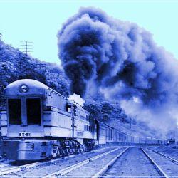 La locomotora tenía una caldera con un diámetro superior a los 120 centímetros.