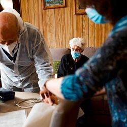 Pacientes recibiendo el alta   Foto:cedoc