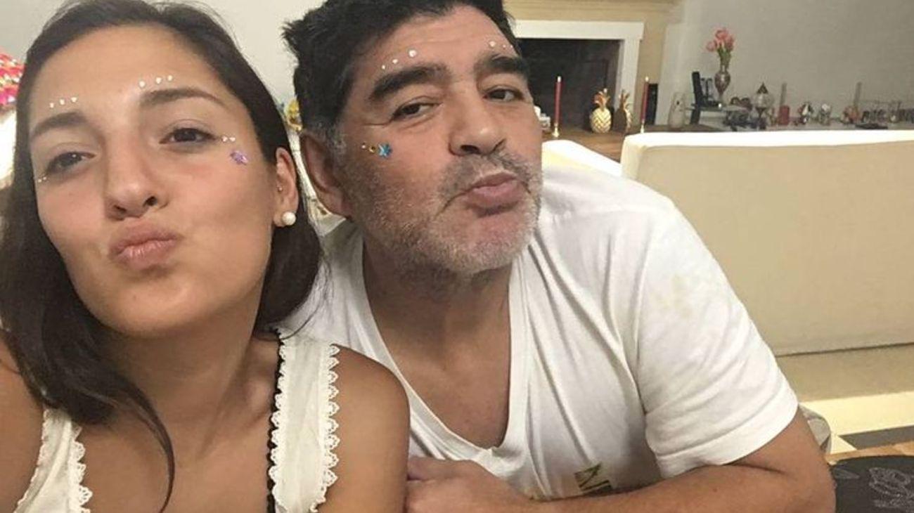 Jana Maradona y Diego Maradona