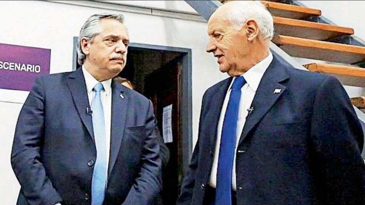 Alberto Fernández junto a Roberto Lavagna   Foto:cedoc