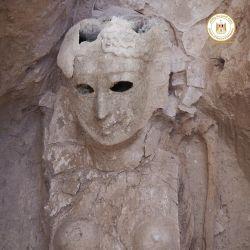 Una de las momias estaba cubierta con decoraciones de oro que representan al dios Osiris.