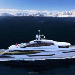 La embarcación es un superyate pensado para disfrutar de la navegación en alta mar.