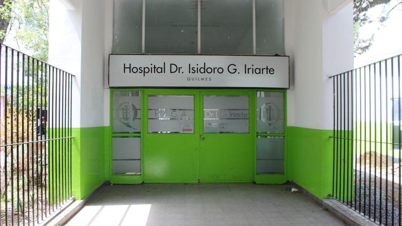 """El Hospital Zonal General de Agudos """"Isidoro Iriarte""""."""