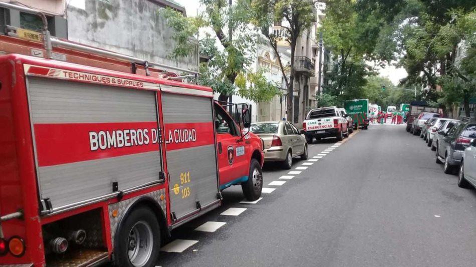 Incendio en edificio calle Sarandi al 600 20210202