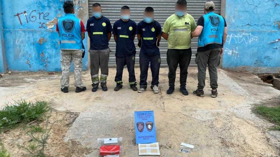 Narcocartoneros detenidos en la Villa Zavaleta 20210202