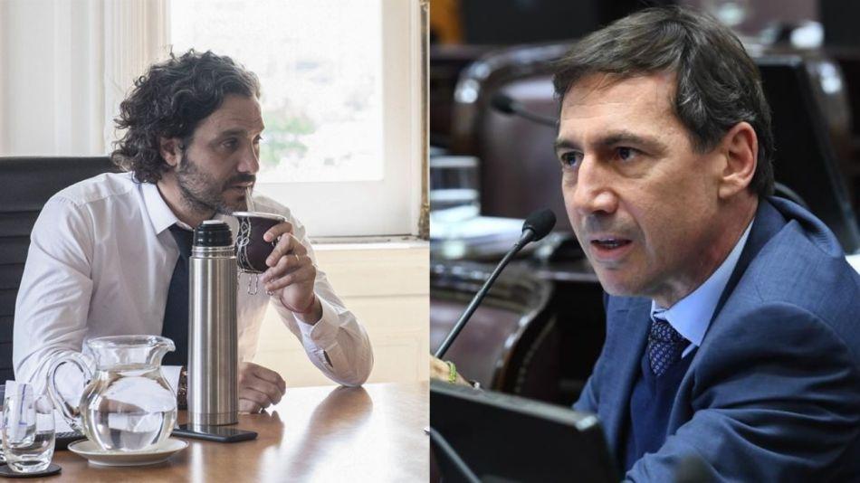 Santiago Cafiero y Luis Naidenoff