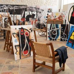 Obras de Joan Miró, en su taller en Palma de Mallorca. Foto: Andreas Drouve/dpa