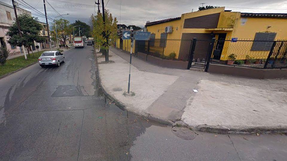 El choque se produjo en la esquina de Chiclana y Lamadrid, San Miguel de Tucumán.