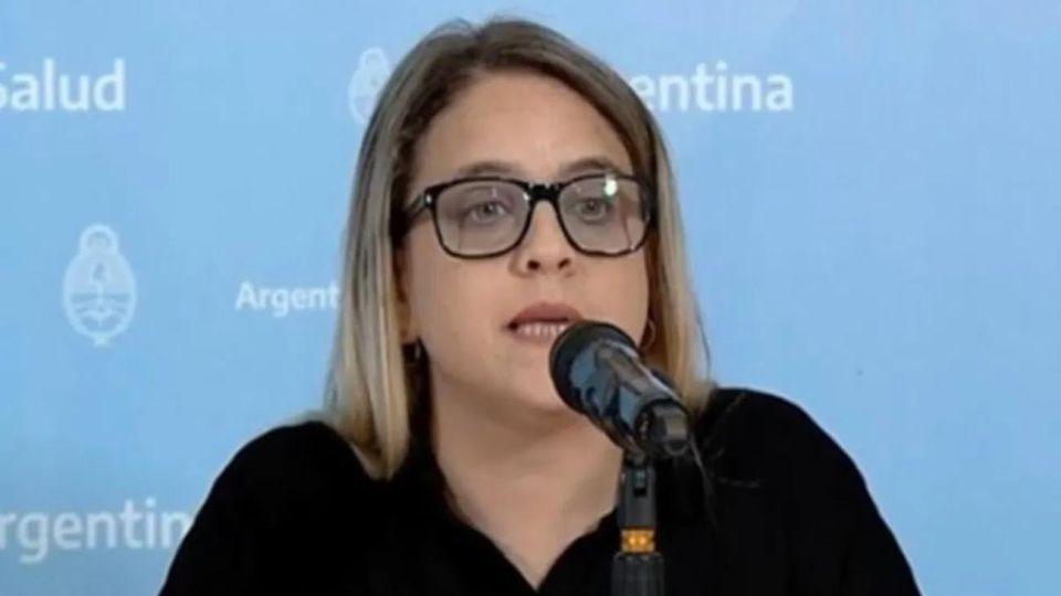 La titular de la Sociedad Argentina de Vacunología, Florencia Cahn.