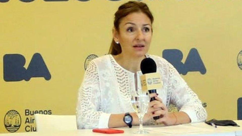 ministra de Educación de la ciudad, Soledad Acuña