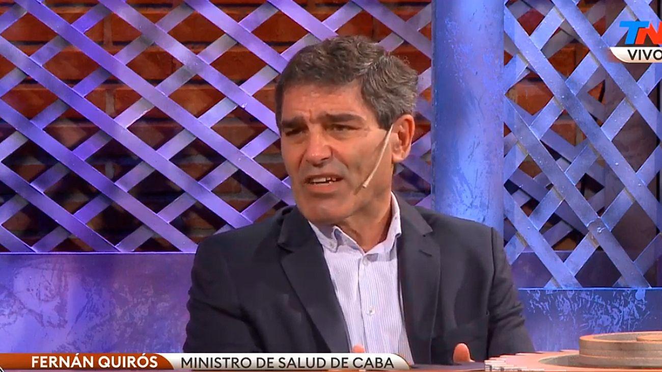 El ministro de Salud de la Ciudad, Fernán Quirós, en La Rosca, el ciclo político de los jueves en TN.