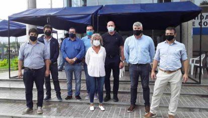 Waldo Wolff, Mónica Frade y Sebastián Salvador, legisladores de la oposición que visitaron Formosa.