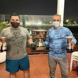 Los ganadores, la dupla Pablo Montello – Fernando Caletti, quienes representando a la Peña Piscatoria.