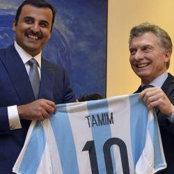 Mauricio Macri con el Emir de Qatar.    Foto:Presidencia