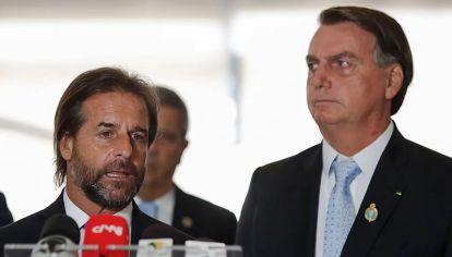 Visita inesperada de Luis Lacalle Pou a su colega Jair Bolsonaro