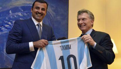 Mauricio Macri con el Emir de Qatar