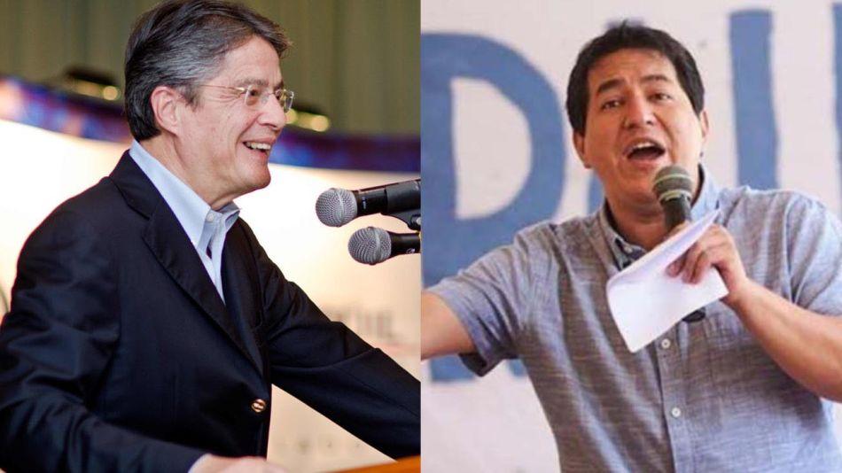 Andrés Arauz y Guillermo Lasso 20210205