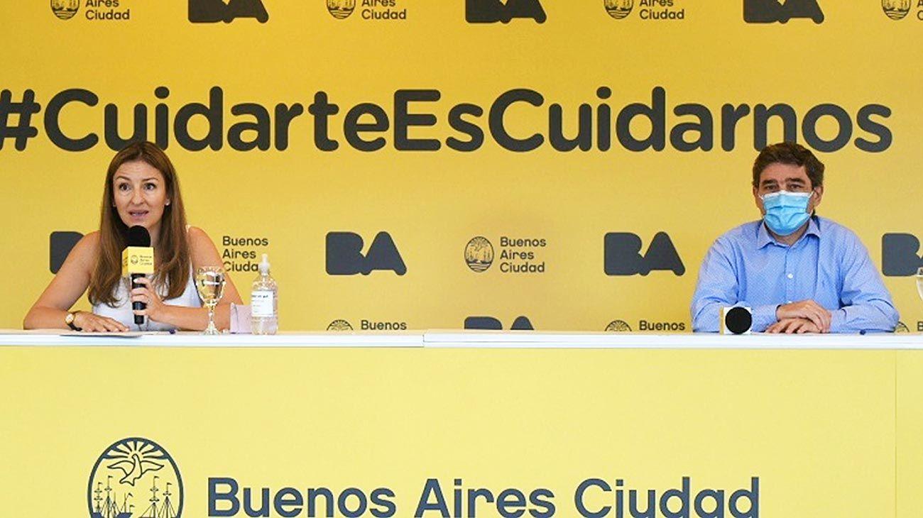 Presencialidad. Soledad Acuña y Fernán Quirós fueron convocados a explicar los sistemas de testeos que se aplicarán a docentes y no docentes.